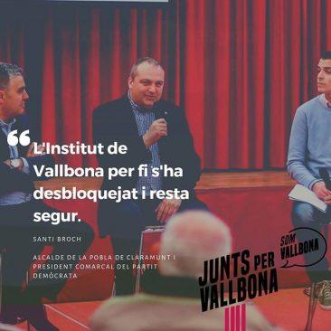 L'institut de Vallbona per fi s'ha desbloquejat i resta segur