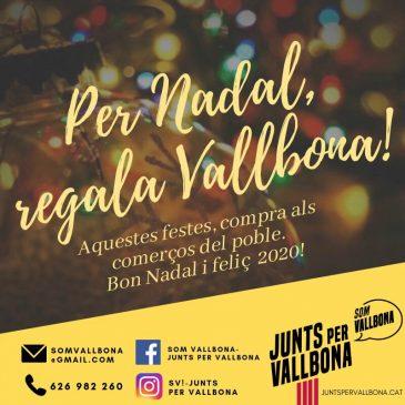 Som Vallbona-JUNTS enceta la seva campanya de Nadal i Any Nou