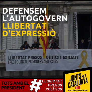 Som Vallbona-JUNTS portarà a ple la defensa del President de la Generalitat